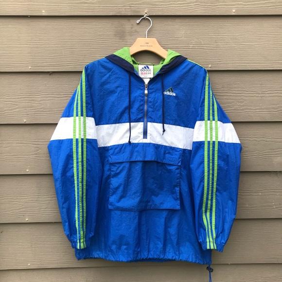 920211190912 adidas Other - Vintage 90s Adidas 1 4 Zip Windbreaker Jacket